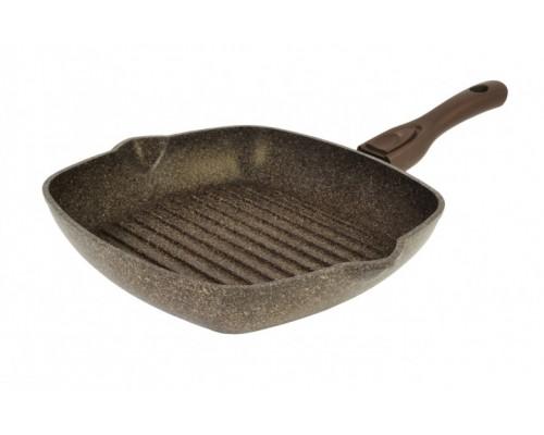 Сковорода-гриль Гранит Браун со съемной ручкой 28 см Биол P28143 PM