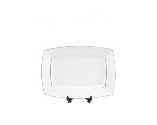 Тарелка фарфоровая 17 см прямоугольная Interos Снежная Королева 705718-А PM