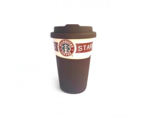 Термокружка Starbucks 350 мл керамическая с резиновым чехлом 9703 PM