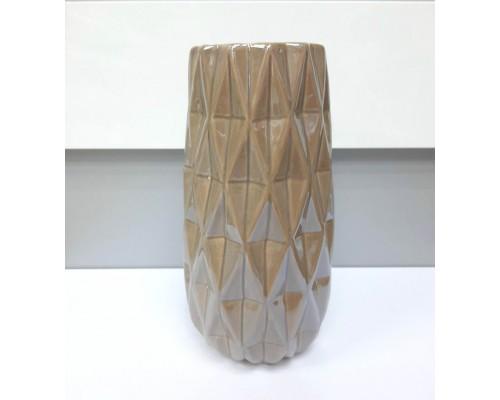 Ваза керамическая Eszter 21 см кофейный перламутр BonaDi 795-428 PM