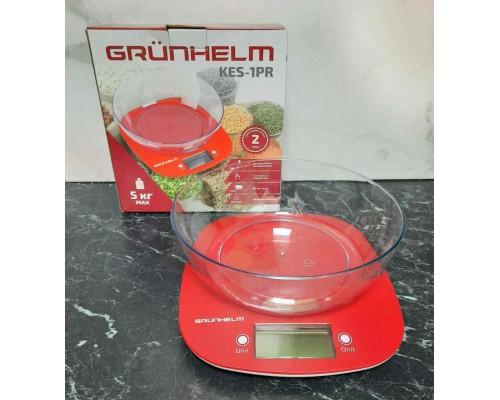 Весы кухонные с чашей до 5 кг Grunhelm KES-1PR (101954) PM