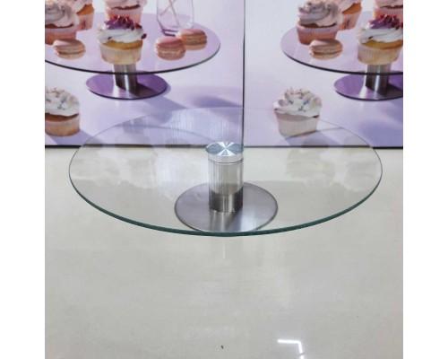 Блюдо-подставка поворотная d-30 см стеклянная на ножке для кенди баров A-PLUS 1818 PM