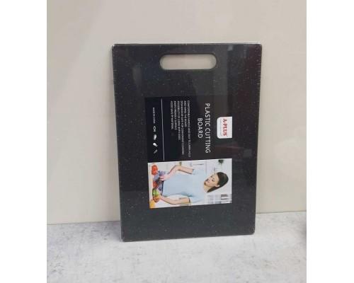 Доска разделочная пластиковая черная A-Plus 3526 MСВ PM