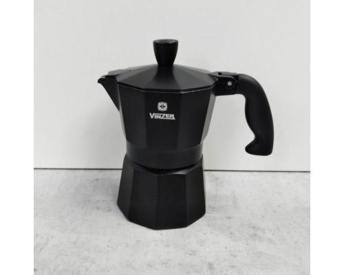 Кофеварка гейзерная (3 порции) 120 мл Vinzer Moka Nero 89394 PM