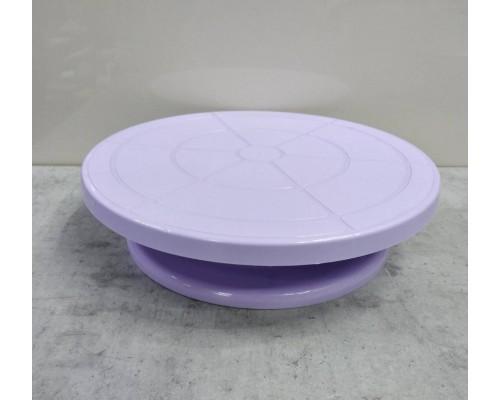 Крутящаяся подставка для торта 275 x 70 мм фиолетовая Empire ЕМ 8927 PM