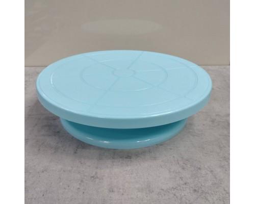 Крутящаяся подставка для торта 275 x 70 мм голубая Empire ЕМ 8927 PM