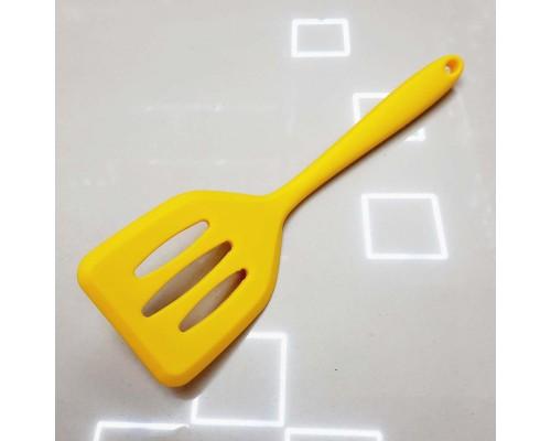 Лопатка силиконовая с прорезями 21 см желтая Vincent 1395-VC