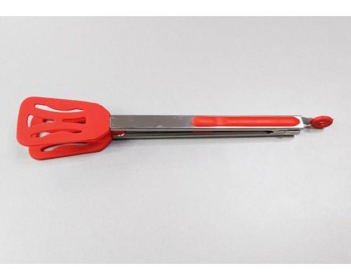 Силиконовые кухонные щипцы с прорезями 34  х 5 см Красные A-PLUS 1999 PM
