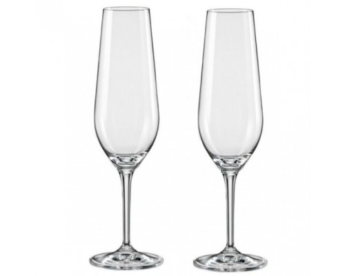 Набор бокалов Bohemia Amoroso для шампанского 200 мл 2 шт Crystalex 40651 200 BOH PM