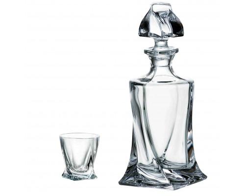Подарочный набор Bohemia Quadro (стопки 55 мл для водки 6 шт, графин 420 мл) 99999 99A44 117 BOH