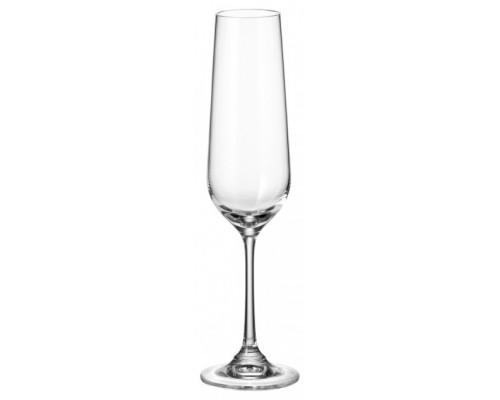 Набор бокалов Bohemia Dora Strix 200 мл для шампанского 6 шт (1SF73 200)