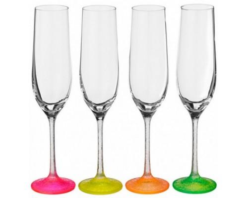 Набор бокалов 190 мл для шампанского 4 шт Bohemia Neon 40729/D4896/190 PM