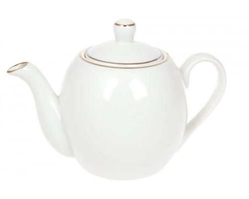 Чайник заварочный фарфоровый Нежность 600 мл с золотым кантом BonaDi 993-404 PM
