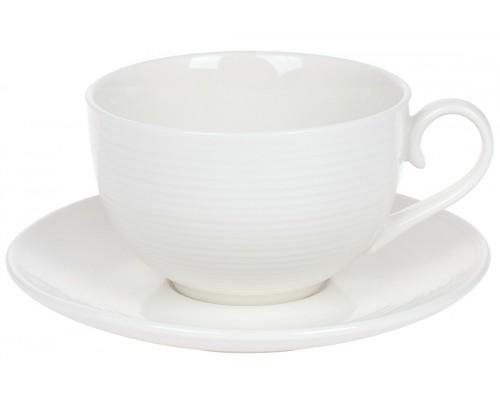 Чашка с блюдцем Грация 310 мл фарфоровая белая BonaDi 988-277 PM
