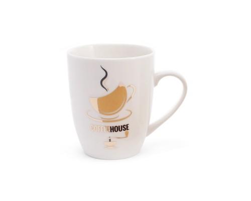 Кружка фарфоровая 350 мл Coffee House BonaDi 380-404 PM