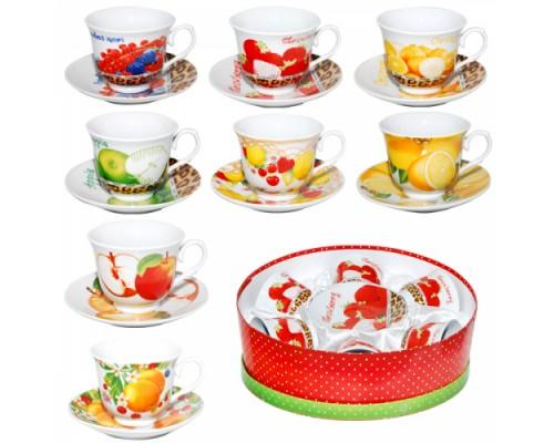 Сервиз чайный S&T 151-04 Фрукты 12 предметов