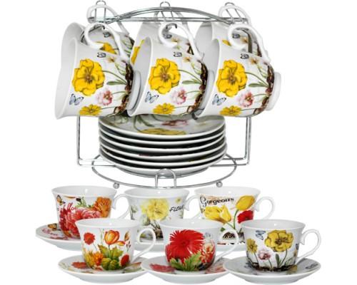 Сервиз чайный S&T 152-01 Цветы 12 предметов