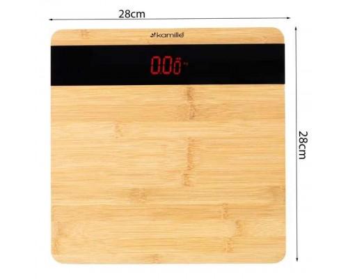 Весы напольные электронные бамбуковые Kamille KM-7113