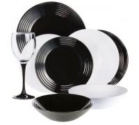 Сервиз Luminarc Harena White & Black 24 предмета