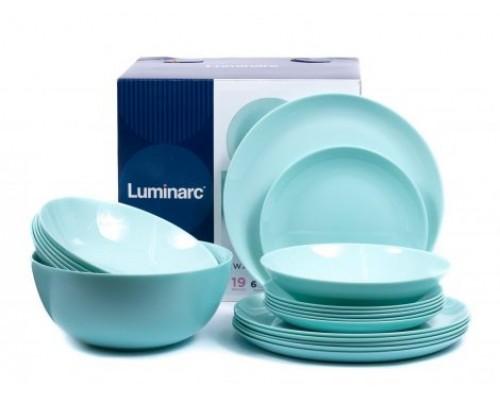 Сервиз столовый Luminarc Diwali Light Turquoise 19 предметов 2947 LUM