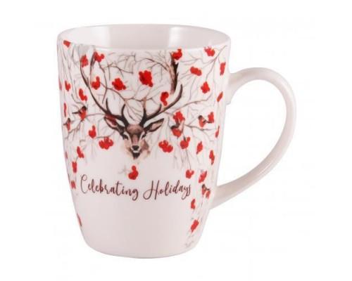 Чашка фарфоровая 350 мл Milika Happy Holiday M0520-L2