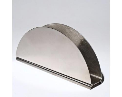 Салфетница Empire 0513, полукруглая, металлическая.