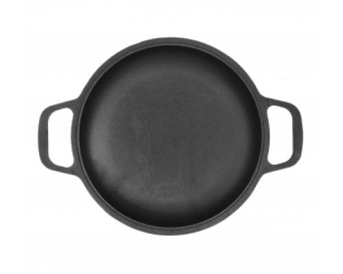 Сковорода порционная чугунная Биол 2062 d-260 мм, h-34 мм, без крышки.