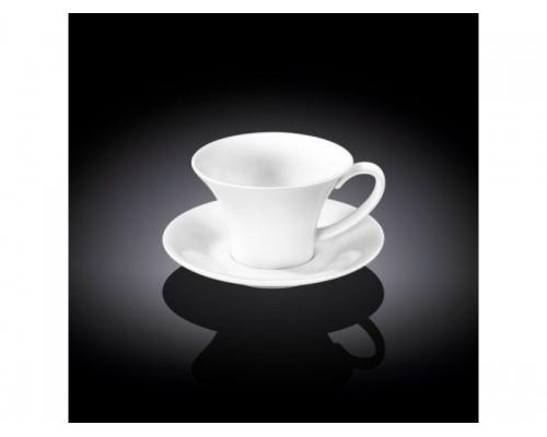 Чашка для кофе 100 мл Wilmax с блюдцем 993168 WIL
