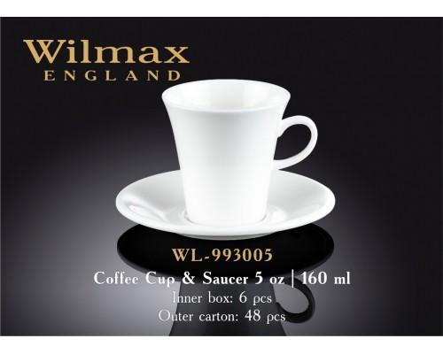 Чашка для кофе 110 мл WILMAX с блюдцем 993005 WIL