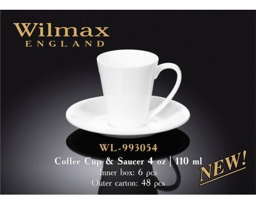 Кофейная чашка и блюдце Wilmax WL-993054 110 мл.