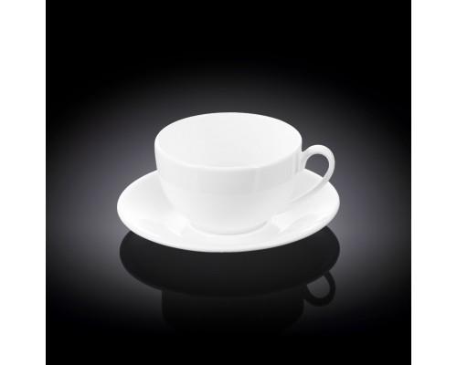 Чашка чайная 180 мл Wilmax с блюдцем 993189 / AB WL PM