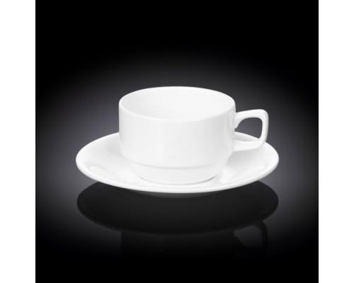 Чашка чайная 220 мл WILMAX с блюдцем 993008 WIL