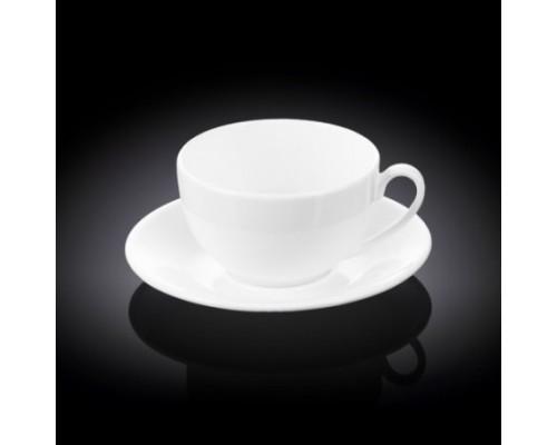 Чашка чайная 300 мл Wilmax с блюдцем 993190 / AB WL PM