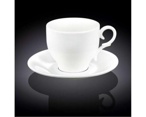 Чашка чайная 330 мл WILMAX с блюдцем 993105 WIL PM