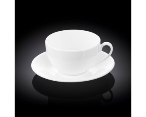 Чашка чайная 400 мл Wilmax с блюдцем 993191 / AB WL PM