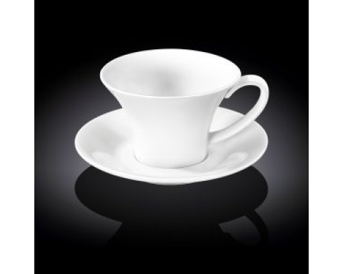 Чашка чайная 430 мл WILMAX с блюдцем 993172 WIL PM