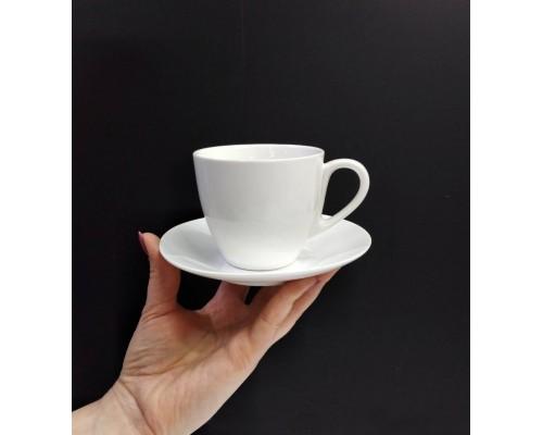 Чашка чайная с блюдем Wilmax 190 мл WL-993001 (2 сорт)