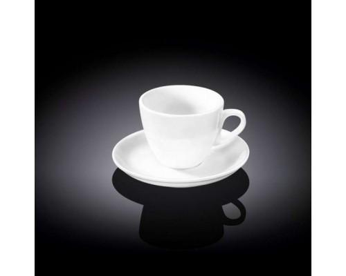 Чашка для кофе 110 мл WILMAX с блюдцем 993174 WIL