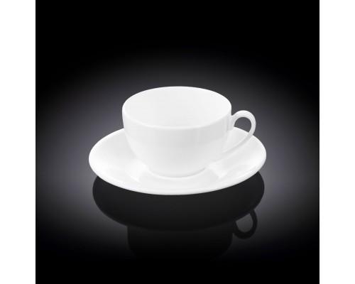 Чашка для кофе 120 мл Wilmax с блюдцем 993188 / AB WL PM