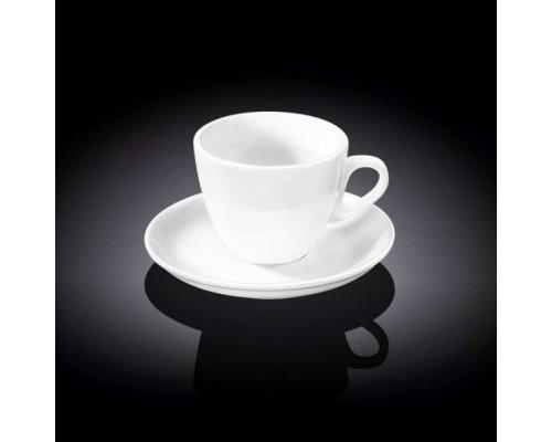 Чашка для кофе 75 мл WILMAX с блюдцем 993173 WIL