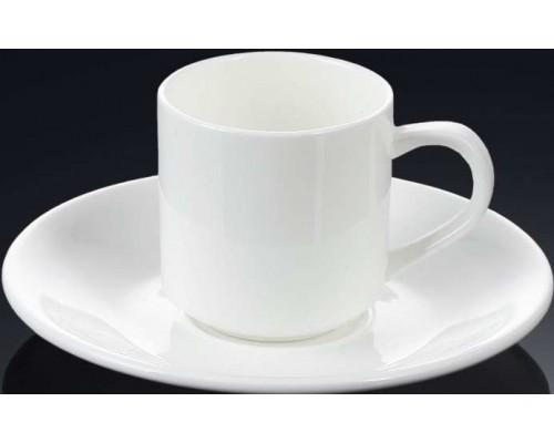 Чашка для кофе 90 мл WILMAX с блюдцем 993007 WIL PM