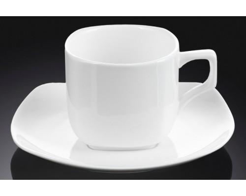 Чашка для кофе 90 мл Wilmax с блюдцем 993041 WL PM
