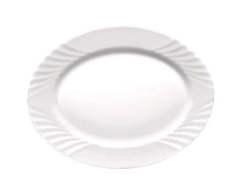 Блюдо овальное Bormioli Rocco 402852F Ebro диаметр 36 см.