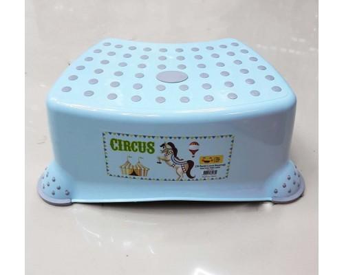 Детская ступенька для ванной комнаты голубая Irak Plastik CM-510 PM