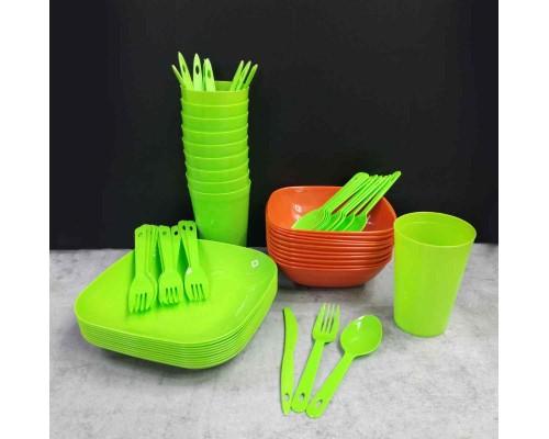Набор посуды для пикника Полимербыт на 10 персон 999-10 ПБ