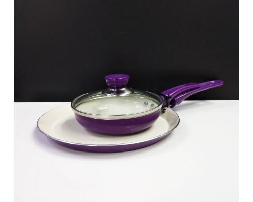 Набор сковород блинных Kamille Colorful Kitchen из 3 предметов KM-0615