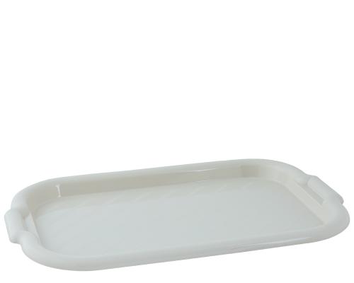Поднос пластиковый Алеана прямоугольный 45*30*4 белая роза 168039