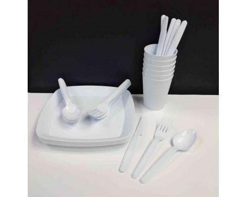 Набор пластиковой посуды для пикника Irak Plastik 32 предмета SP-180