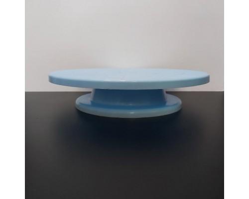 Подставка для торта поворотная A-PLUS d-32 голубая (49 К)