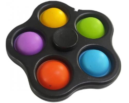 Игрушка антистресс Pop It Simple Dimple Спинер симпл димпл black 521-02